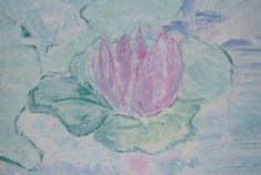 Water Lilies with chalk  tempura