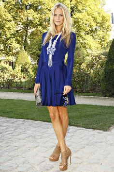 Cobalt blue! ...I LOVE the dress. Not so sure about the necklace, but the dress rocks. The color is STUNNING. :)