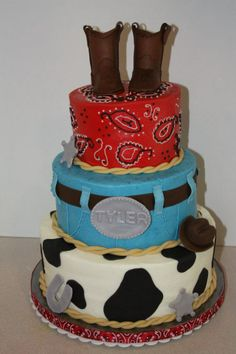Wetern Theme Baby Cakes | This Was A Cake For A Western Themed Baby Shower