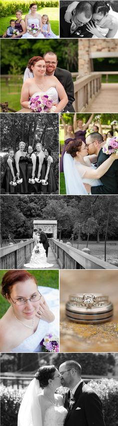 Wedding photos - formals of the bride and groom in Green Bay, Wisconsin. Outdoor park wedding, plum details, and gorgeous weather... What's not to love?! #wedding #greenbay #weddingphotography