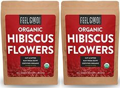 Organic Hibiscus Flowers Cut Sifted Reselable Bags 32 oz 2 Pounds Total 100 Raw From Egypt by Feel Good Organics -- See this great product. Kraft Bag, Valentines Flowers, Tea Blends, Hibiscus Flowers, Hobbies And Crafts, Gourmet Recipes, Feel Good, Blog, Organic