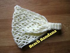 Crochet pattern headband bandana beach CC for instructions subtitles - YouTube