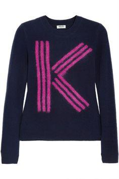 Kenzo'dan kadınlar için şık bir ürün.K - İntarsia Wool - Blend Sweater