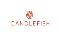 Logo for Charleston scented candle store and workshop Candlefish by Fuzzco