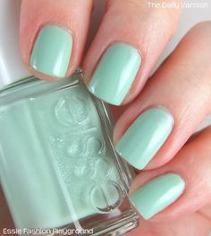 Fashion Playground, Essie - pastel mint green #nail_polish / lacquer with subtle crystal flecks
