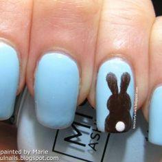 Ten Colorful Nails: Chocolate Bunny Nail Art