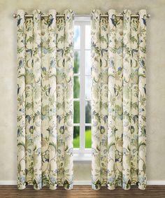 Another great find on #zulily! Blue Brissac Grommet Curtain Panel #zulilyfinds