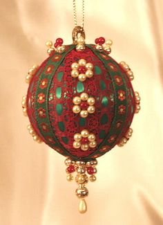 Handmade Old World Victorian Heirloom Beaded Christmas Ornaments