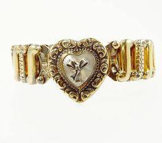 Vintage Gloria Sweetheart Expansion Bracelet Sterling Silver &