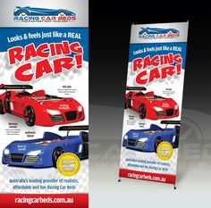 Create brilliant signage for Childrens Race Car Beds by Applefresh