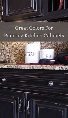 When trying to decide on a color to paint your kitchen cabinets, keep in mind that your color choice is a little different than painting a piece of furniture. If for any reason you decide to move, the cabinets go with the house and if the color is not appealing.