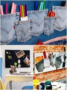 Vemale.com - Manfaatkan jeans bekas Anda menjadi pernik yang berguna yuk...