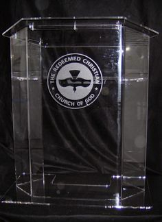 Lectern podium for The Redeemed Christian Church of God - Created by Acryl Design