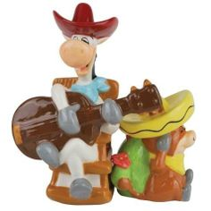 Westland Giftware Quick Draw McGraw and Baba Looey Salt and Pepper Shakers by Westberry Wellness Programs. $14.00. Features characters from huckleberry hound. Nice decorative piece. Exceptional quality. Wonderful Gift. Brightly colored. These fun, colorful salt & pepper shakers are magnetic, and feature characters from Huckleberry Hound. Westland Giftware is known for quality and design.