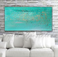 Turquoise painting, Minimalist painting, Print, Wall Art, Turquoise Home Decor Art, Turquoise and Gold Abstract, Beach Art, Watercolor Print