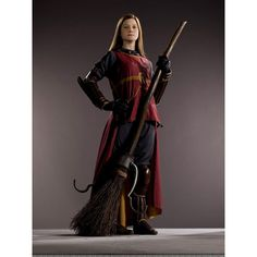 Ginny Weasley Quidditch Uniform ❤ liked on Polyvore featuring harry potter, people, gryffindor, hogwarts and photos