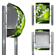 New High-Grade Steel Mail Box with pedestal with motive: Lily of the Valley: Amazon.co.uk: Kitchen & Home