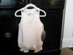 Girls Vintage Inspired Romper / Bodysuite