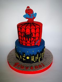 spiderman cake - Cake by mariana frascella