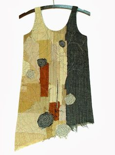 sewing - art quilt in the form of a dress but... this would make the best tunic over black tshirt and leggings