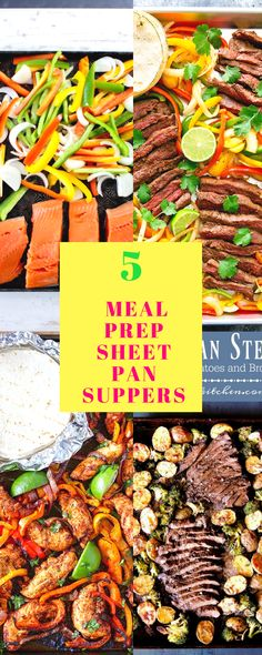 Meal prep on a sheet pan for your weight loss goals. Eating healthy is all in the planning. Lose weight by planning your meals ahead of time.