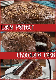 This chocolate cake recipe is so easy and tastes so perfectly delicious!