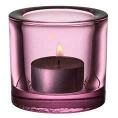 iittala Kivi Candle Holder - Sweet Pink  $40.00