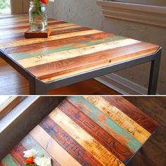 Reclaimed Wood Table #LiquidGoldSalvagedWood