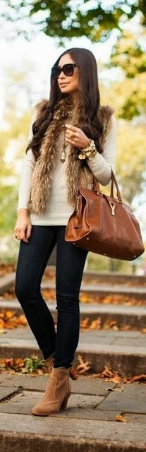 After seeing all the fur on Pinterest.... I might need a fur vest