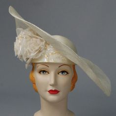 Louise Green hat – Louise Green Millinery FAYE, PARISISAL/METALLIC SINAMAY, NATURAL/NATURAL SILVER