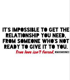 True love isn't forced