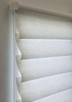 Hunter Douglas Vignette® Tiered™ Modern Roman Shades Closed #Hunter_Douglas #Vignette_Shades #Window_Treatments