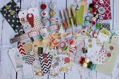 Fancy Pants, Merry Little Christmas! ~ Love the colors and all those pretty embellishments!
