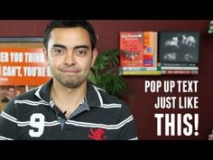 """How to Add """"Pop Up Text"""" to Your Videos >  Published on Jun 29, 2012    http://www.smartpassiveincome.com - In this video I show you how you can add Pop Up Text to your videos to emphasize those important moments of your recordings."""