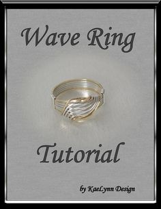 Tutorial Wave Ring by KaeLynnDesign on Etsy Wire Jewelry, Jewelry Crafts, Jewelry Rings, Handmade Jewelry, Silver Jewelry, Jewlery, Wire Bracelets, Wire Crafts, Beaded Rings