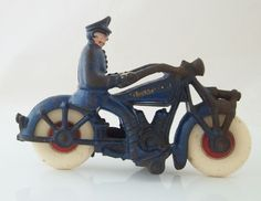 Vintage Cast Iron Police Motorcycle Champion Hardware Company #HubleyChampion