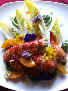 Lobster tail & fiddleheads
