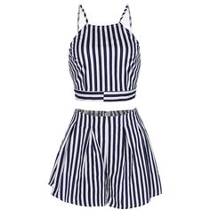 Camilla Striped Set ($33) ❤ liked on Polyvore
