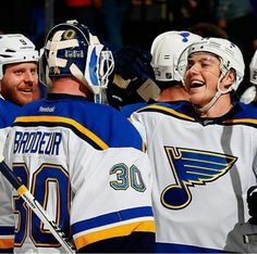 Brodeur gets his first win as a St. Louis Blue!