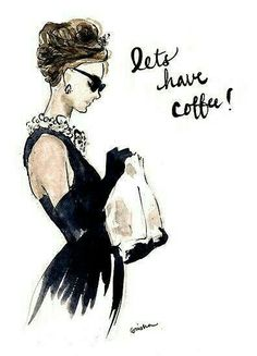 Let's have coffee! Audrey Hepburn Breakfast at Tiffanys Invitation by rishann Audrey Hepburn Breakfast At Tiffanys, Audrey Hepburn Decor, Audrey Hepburn Wallpaper, Audrey Hepburn Inspired, Audrey Hepburn Quotes, George Peppard, Illustration Mode, I Love Coffee, Coffee Girl