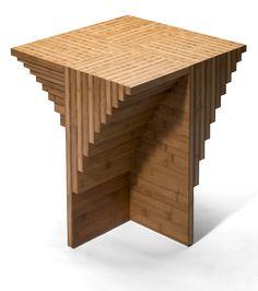 Tisch: Holz+ Design: Orterfinder; Bambus Dunkel, Geschichtet