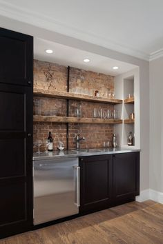 Image result for attached basement bar ideas