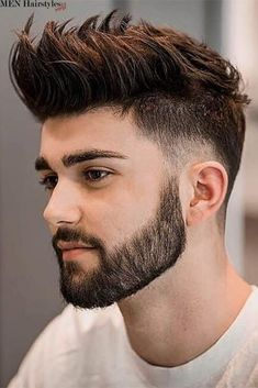 Beard Styles 670966044467796771 - It's easy to understand why short haircuts for men are arguably the most sought-after in the industry. Let's be honest – they look remarkable and they complement masculine features well! Source by menhairstylesworld Mens Hairstyles With Beard, Cool Hairstyles For Men, Top Hairstyles, Undercut Hairstyles, Elegant Hairstyles, Hairstyle Ideas, Trending Hairstyles, Hair Ideas, Beard Styles For Men