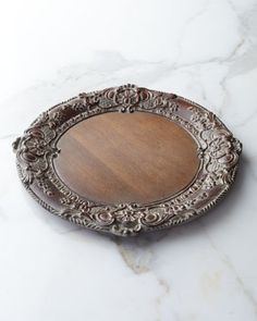 Baroque Wooden Charger Plate by Sezzatini at Neiman Marcus.