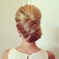 Elegant, simple, full-- if it has volume on top from the front, I love it