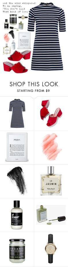 """Stevie Maddening"" by weightlessdreams ❤ liked on Polyvore featuring French Connection, Steve Madden, Birchrose + Co., Eyeko, Lumene, Miller Harris, J. Hannah and Burberry"