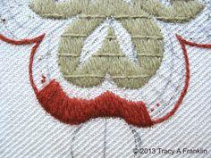 Tracy A Franklin - specialist embroiderer: Bayeux stitch