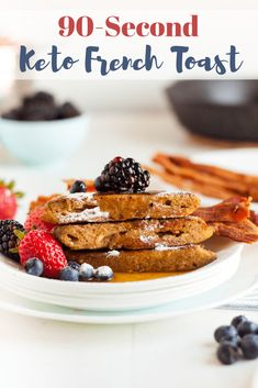 Keto French Toast is the ultimate breakfast recipe! This easy meal comes togethe… Keto French Toast is the ultimate breakfast recipe! This easy meal comes together in just minutes and is a perfect low carb keto breakfast idea! Low Carb Breakfast, Breakfast Recipes, Breakfast Toast, Breakfast Ideas, Ketogenic Breakfast, Recipes Dinner, Low Carb Keto, Low Carb Recipes, Cena Keto