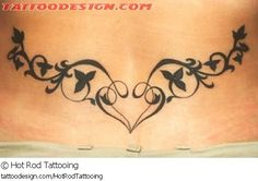 A tattoo design picture by Hot Rod Tattooing: cute,sexy,feminine,girly,girlie,female,woman,women,girl,lady,ladies,pretty,beautiful,nature,flower,blossom,floral,lower,back,lowerback,tramp,tribal,heart,vine