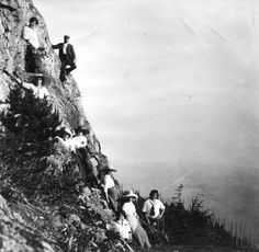 Descending Grouse Mountain on the Capilano side. Photo by Franklin Walter Hewton in courtesy the Vancouver Archives. North Vancouver, Laundry Hacks, Most Beautiful Cities, Old City, North Shore, Historical Photos, British Columbia, Family History, Outdoor Activities